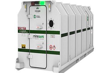 MineSAFE refuge chamber for underground mining